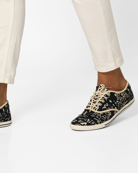 Novelty Print Casual Shoes With Lace-Ups By Jack & Jones ( Blue )
