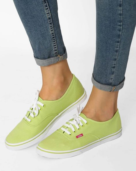 Authentic Lo Pro Casual Shoes By Vans ( Green )