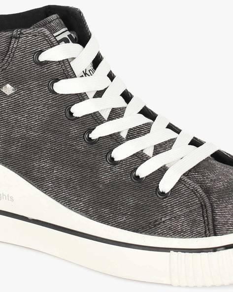 Textured Mid-Top Casual Shoes By British Knights ( Black )