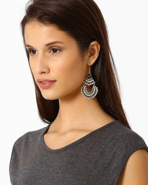 Embellished Drop-Earrings By Style Fiesta ( Multi )