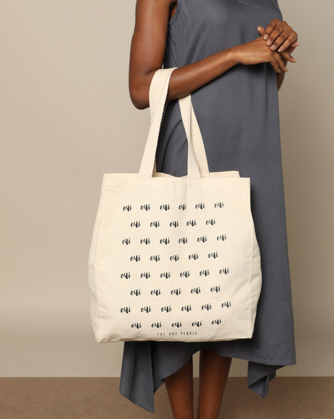 Multipurpose Cotton Canvas Tote Bag By The Art People ( White ) - 460179689001