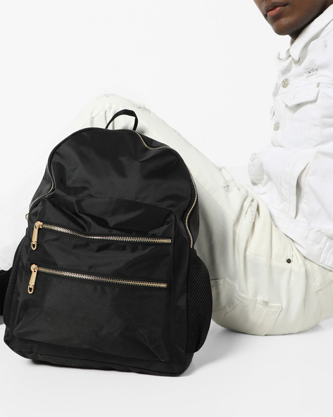 Laptop Backpack With Adjustable Straps By AJIO ( Black )