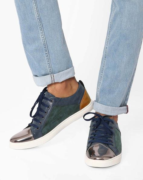 Cooper Colourblock Casual Shoes By Muddman ( Navy )