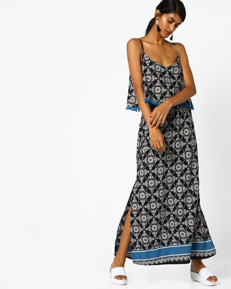 All-Over Print Popover Dress By Oxolloxo ( Multicolor )