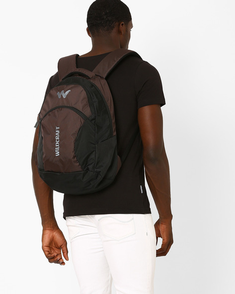 Colourblock Laptop Backpack By Wildcraft ( Brown )