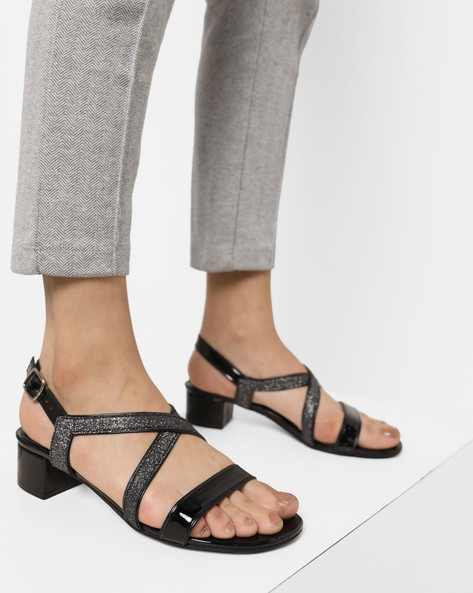 Strappy Sling-Back Sandals By Carlton London ( Grey )