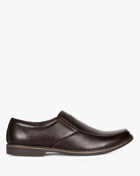 Panelled Slip-On Formal Shoes By ESCARO ( Brown )