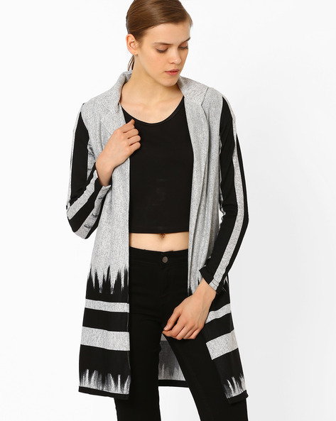 Printed Open-Front Jacket By And ( Multi )