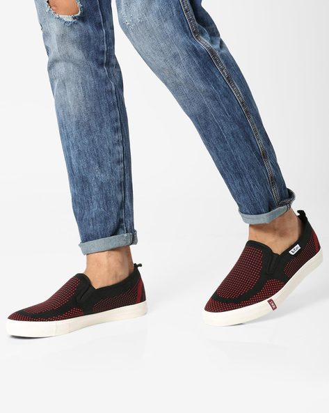 Slip-On Sneakers With Elasticated Gussets By Lee Cooper ( Red )