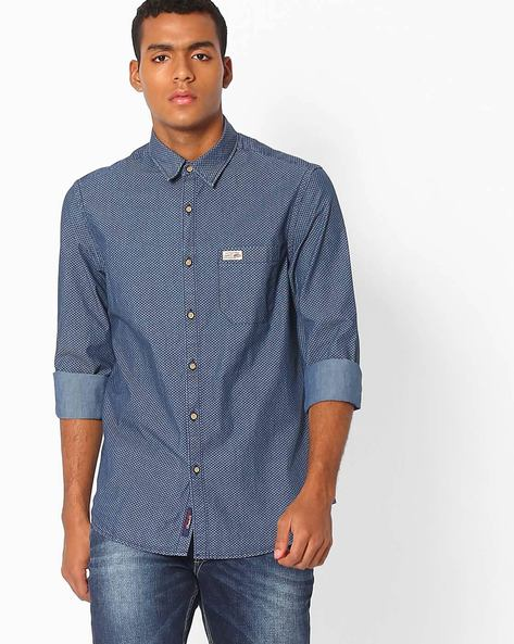 Printed Slim Fit Shirt By US POLO ( Assorted )