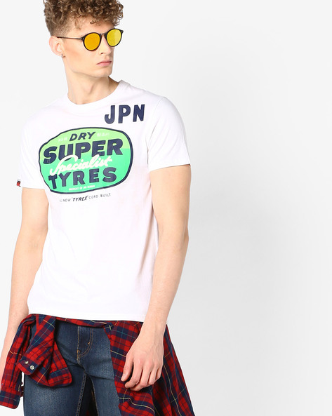 Graphic Print Crew-Neck T-shirt By SUPERDRY ( 01c ) - 410049017002