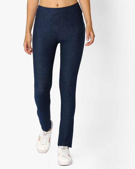 Mid-Rise Jeggings With Pockets By Vero Moda ( Blue )