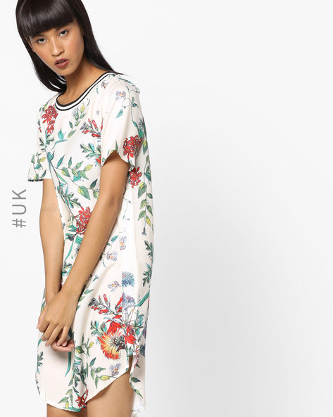 Floral Print Shift Dress By OEUVRE ( Multi )