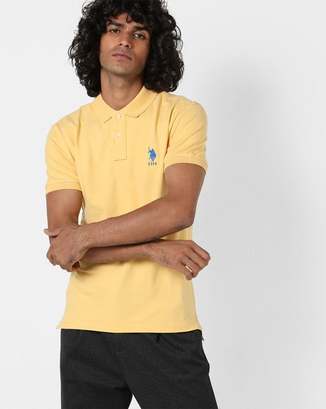 Polo T-shirt With Vented Hemline By US POLO ( Multi )