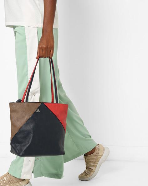 L Mixmatch Y G Dora Colourblock Tote Bag By BAGGIT ( Navyblue )
