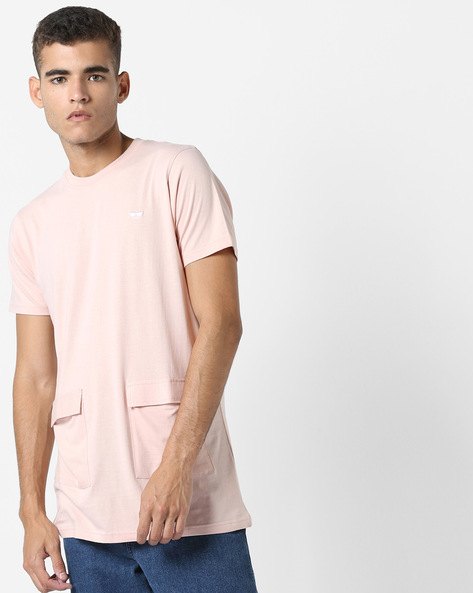 Longline T-shirt With Flap Patch Pockets By Garcon ( Skin )