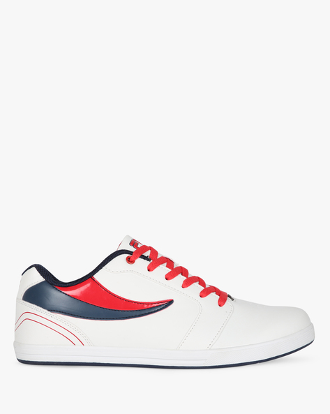 Colourblock Low-Top Lace-Up Shoes By FILA ( White ) - 460149846004