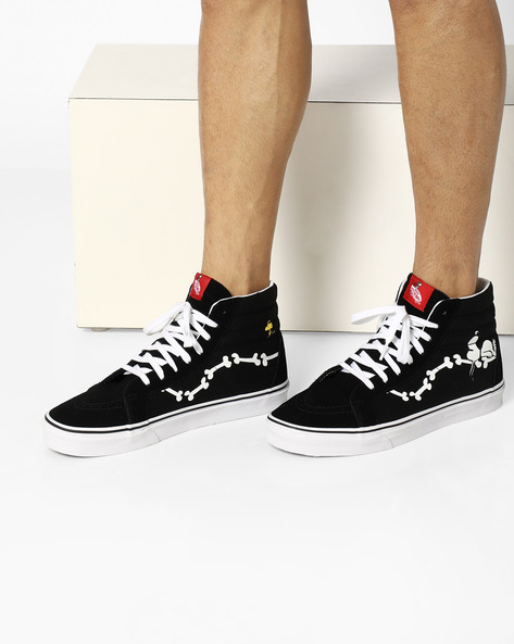 Patent Leather Lace-Up Shoes By Vans ( Black )