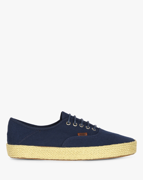 Tropic Havana Lace-Up Casual Shoes By Vans ( Blue )