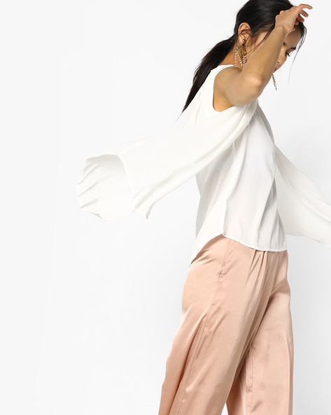 Sleeveless Top With Pleated Flaps By Project Eve WW Work ( Offwhite )