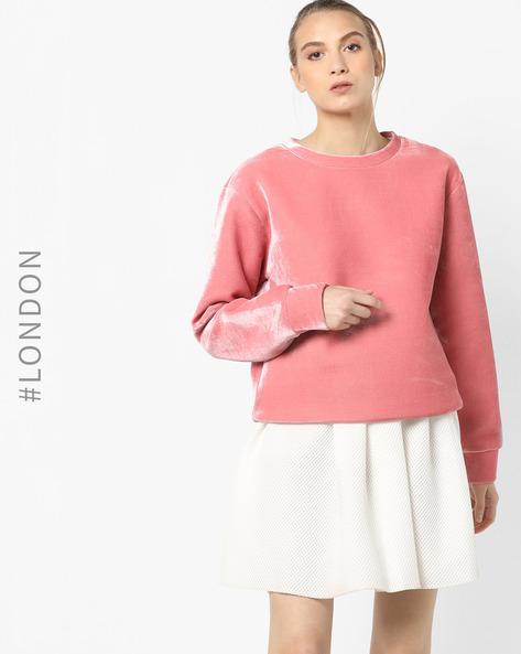 Crew-Neck Sweatshirt By Glamorous ( Pink )