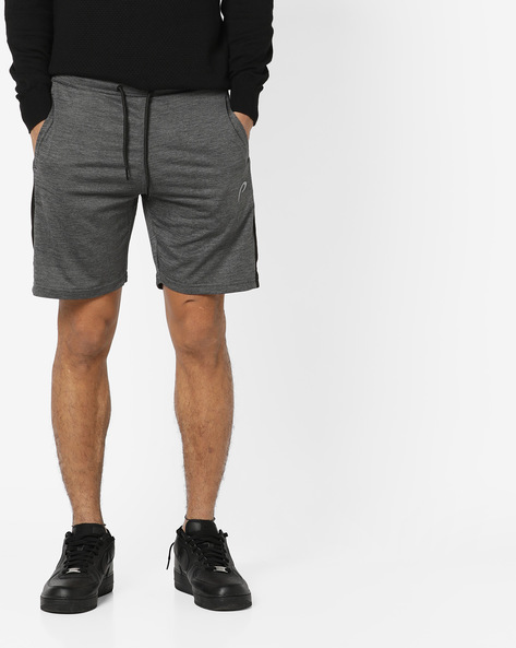 Panelled Shorts With Drawstring Waist By PROLINE ( Charcoal )