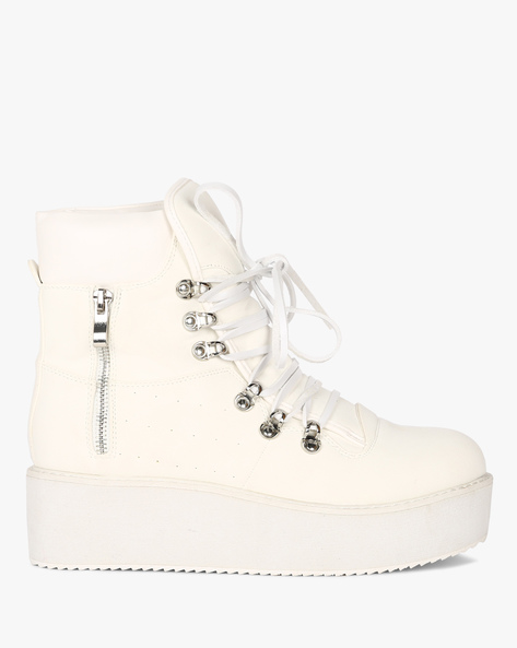 High-Top Lace-Up Sneakers By Truffle Collection ( White )