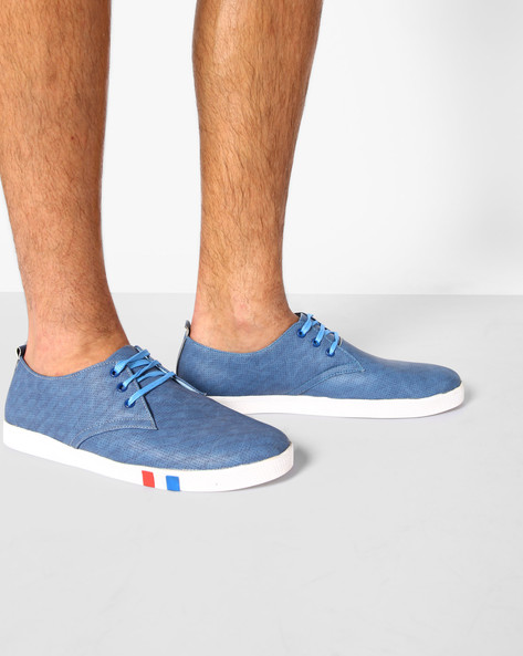 Sneakers With Perforations By Modello Domani ( Blue )