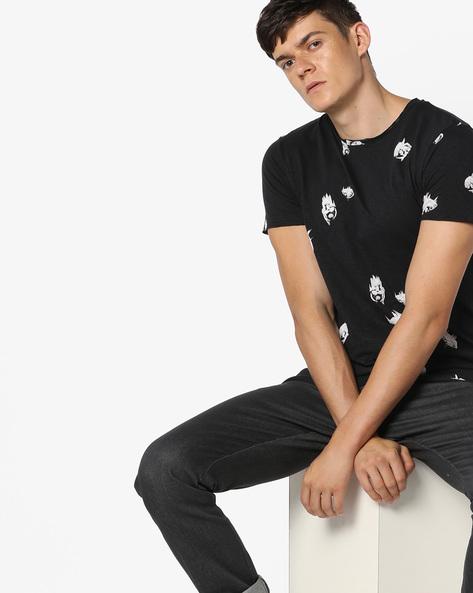 Jorscratch Printed Slim T-shirt By Jack & Jones ( Assorted )