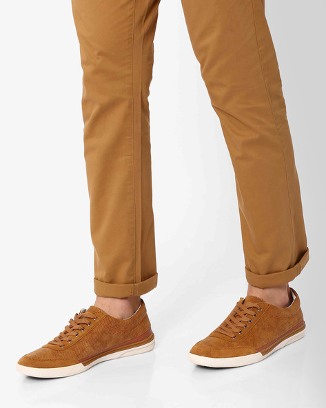Sneakers With Perforations By Spunk ( Tan )