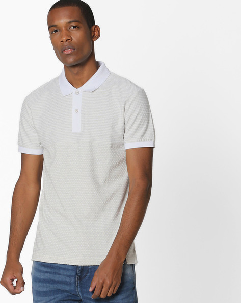 Knitted Polo T-shirt By UNITED COLORS OF BENETTON ( Assorted )