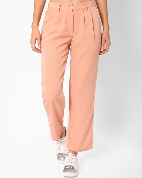 Pleated Ankle-Length Trousers By TAANZ WOMENS ( Assorted )