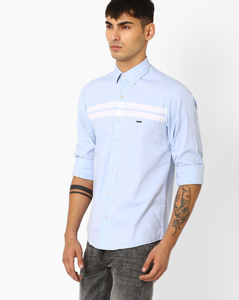 Slim Fit Shirt With Spread-Collar By CRIMSOUNE CLUB ( Assorted )