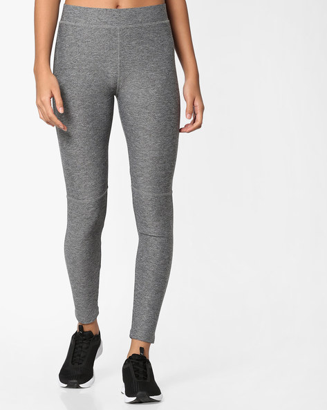 Panelled Leggings With Elasticated Waistband By PE WW At Leisure ( Greymelange )