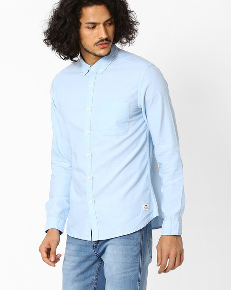 Regular Fit Shirt With Button-Down Collar By FLYING MACHINE ( Assorted )