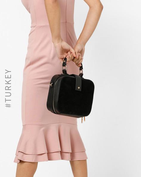 Box Sling Bag With Removable Shoulder Strap By TRENDYOL ( Black )