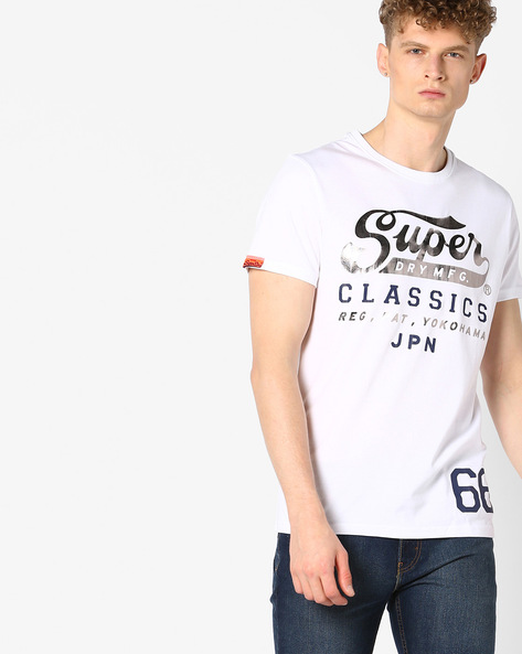 Printed Crew-Neck T-shirt By SUPERDRY ( 01c )