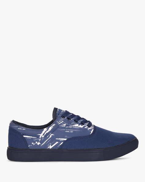 Lace-Up Sneakers With Printed Panel By Nuboy ( Navy )