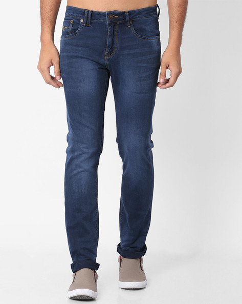 Mid-Rise Michael Tapered Fit Jeans By FLYING MACHINE ( Assorted )
