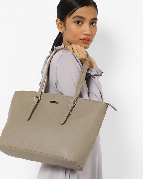 Textured Tote Bag By Lino Perros ( Olive )