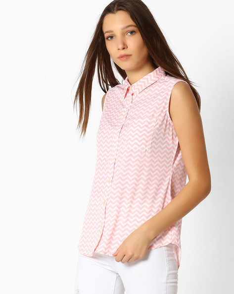 Shirt With Patch Pocket By Fame Forever ( Peach )