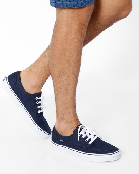 Brigata Canvas Casual Shoes By Vans ( Blue )