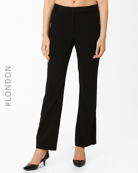 Mid-Rise Trousers By Marks & Spencer ( Black )