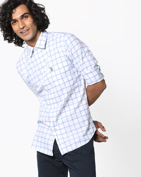 Checked Cotton Shirt By US POLO ( Assorted )