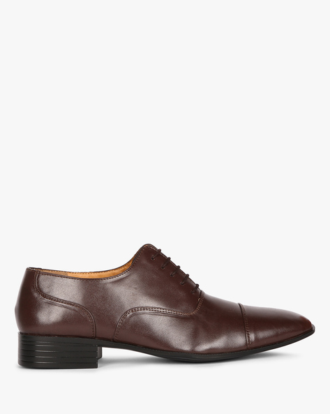 Toe-Cap Oxford Shoes By ESCARO ( Brown )