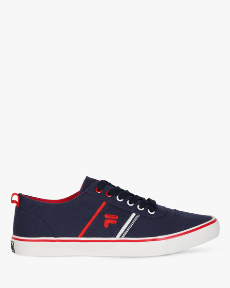 Lace-Up Casual Shoes With Contrast Edges By FILA ( Blue )