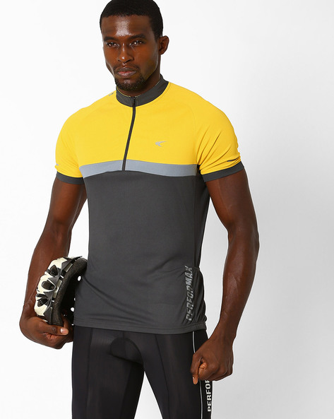 Reflective T-shirt With Quick Dry By PERFORMAX ( Charcoal )