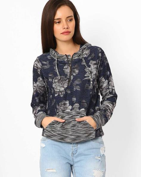 Floral Pattern Pullover By DNM X ( Navy )