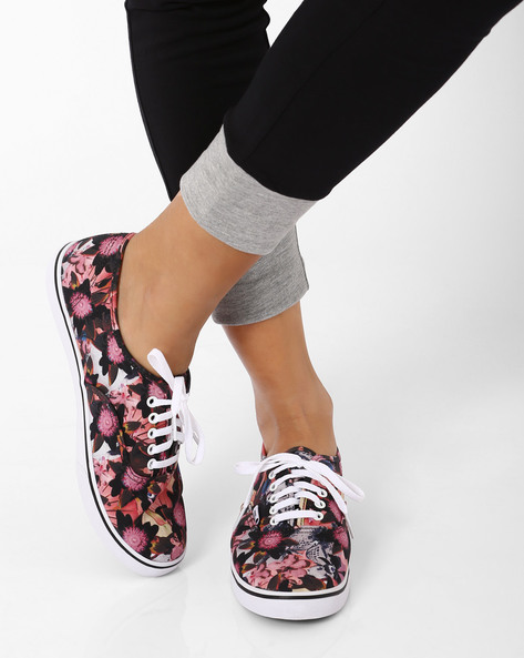 Floral Print Authentic Lo Pro Casual Shoes By Vans ( Multi )