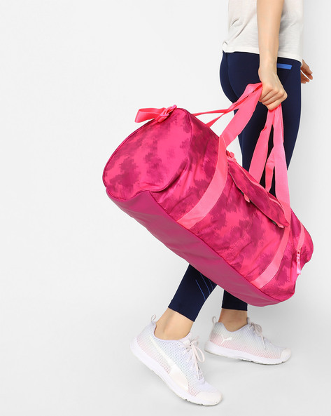 Fit AT Camouflage Printed Sports Duffle Bag By Puma ( Pink )